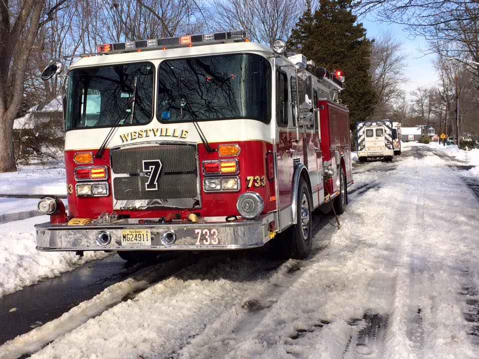 Engine Company responds to house fire in West Deptford