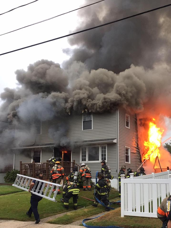 Ladder Company responds to working house fire in Bellmawr