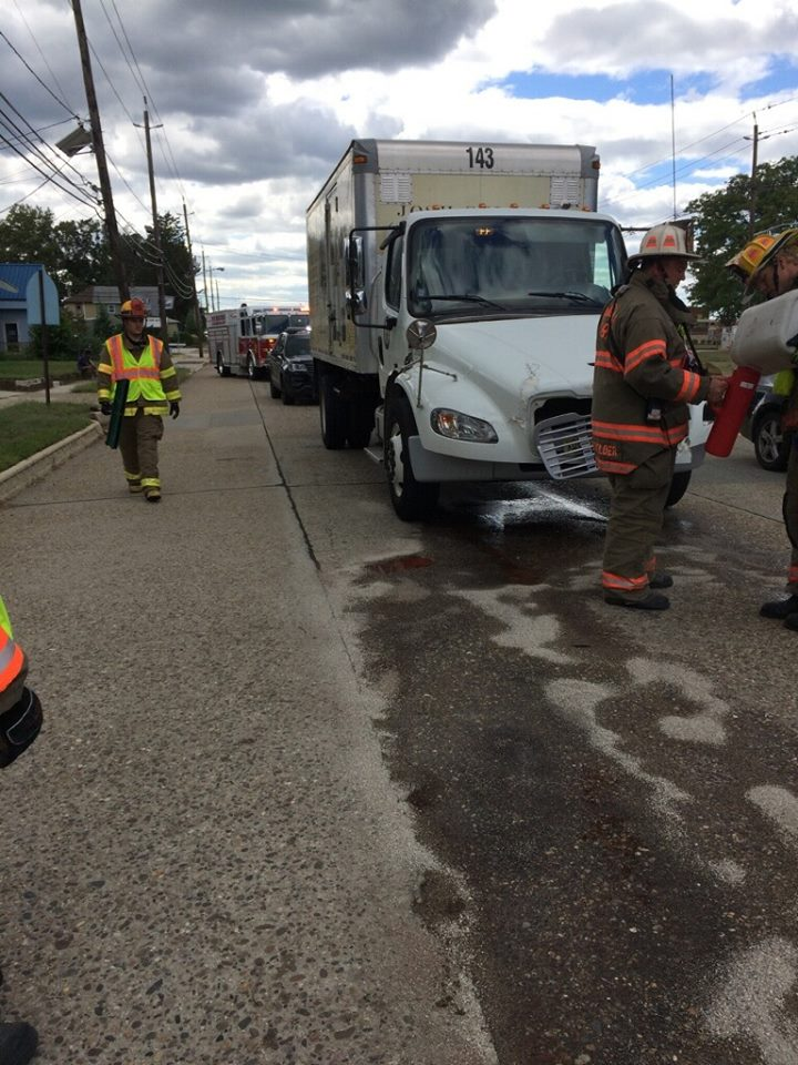 Rescue and BLS Respond to a commercial motor vehicle accident
