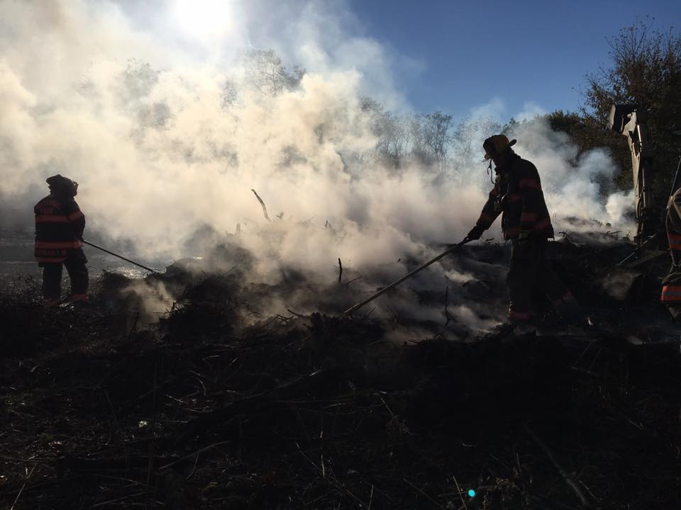 Engine company responds to large brush fire in National Park