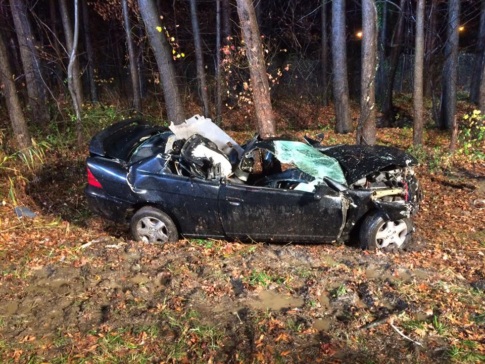 Rescue Company, BLS and Battalion respond to Route 295 crash with heavy entrapment