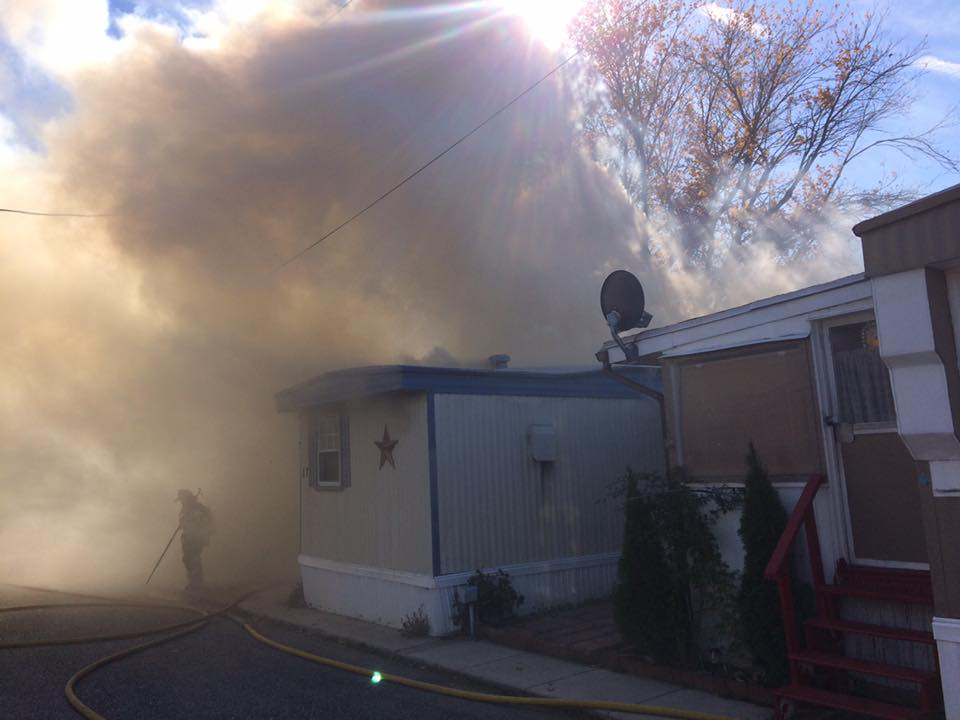 Ladder Company operates on All-Hands Dwelling fire in Gloucester City