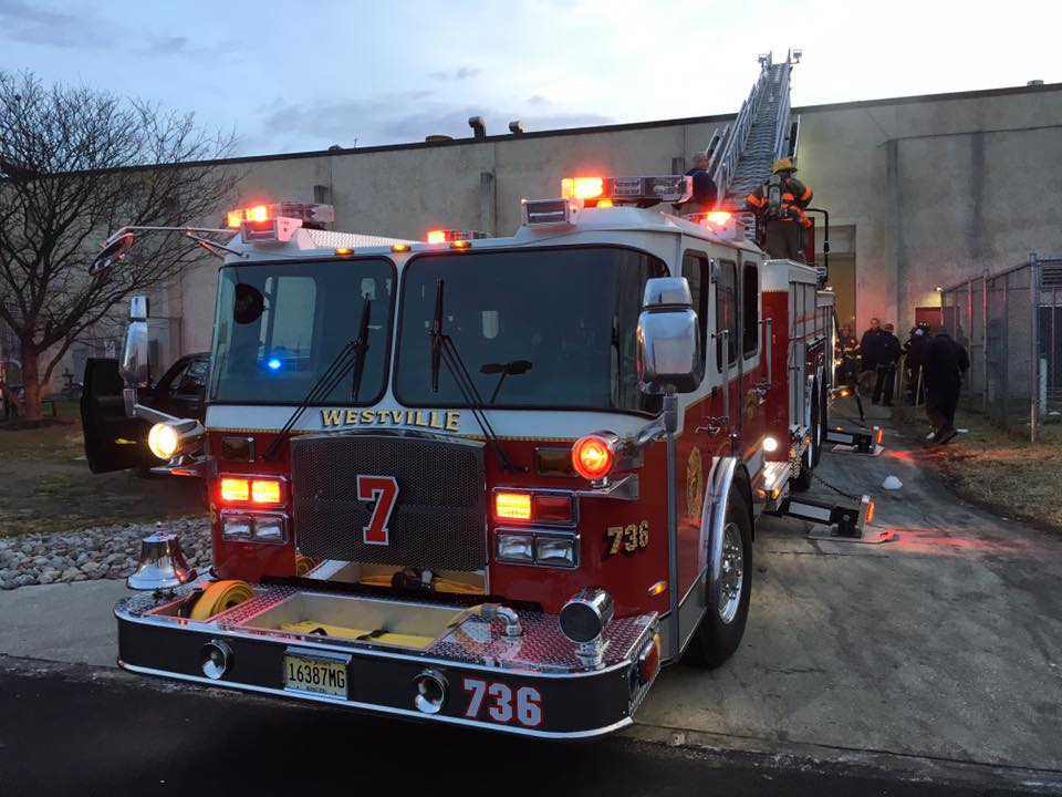Ladder Company responds to Bellmawr for building fire