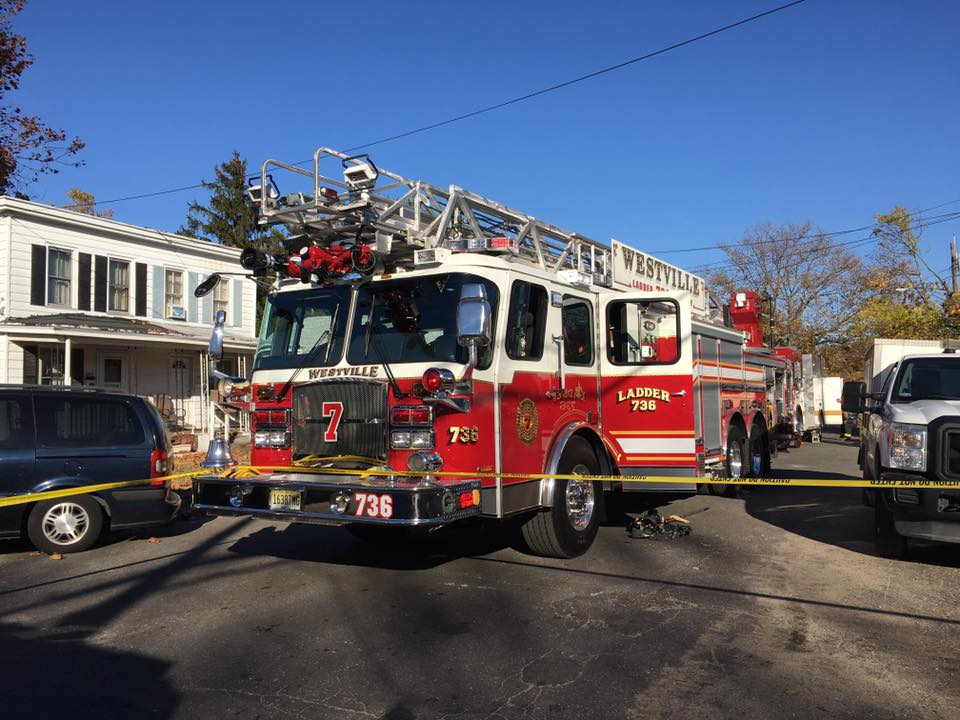 Ladder Company responds to 2nd alarm in Paulsboro