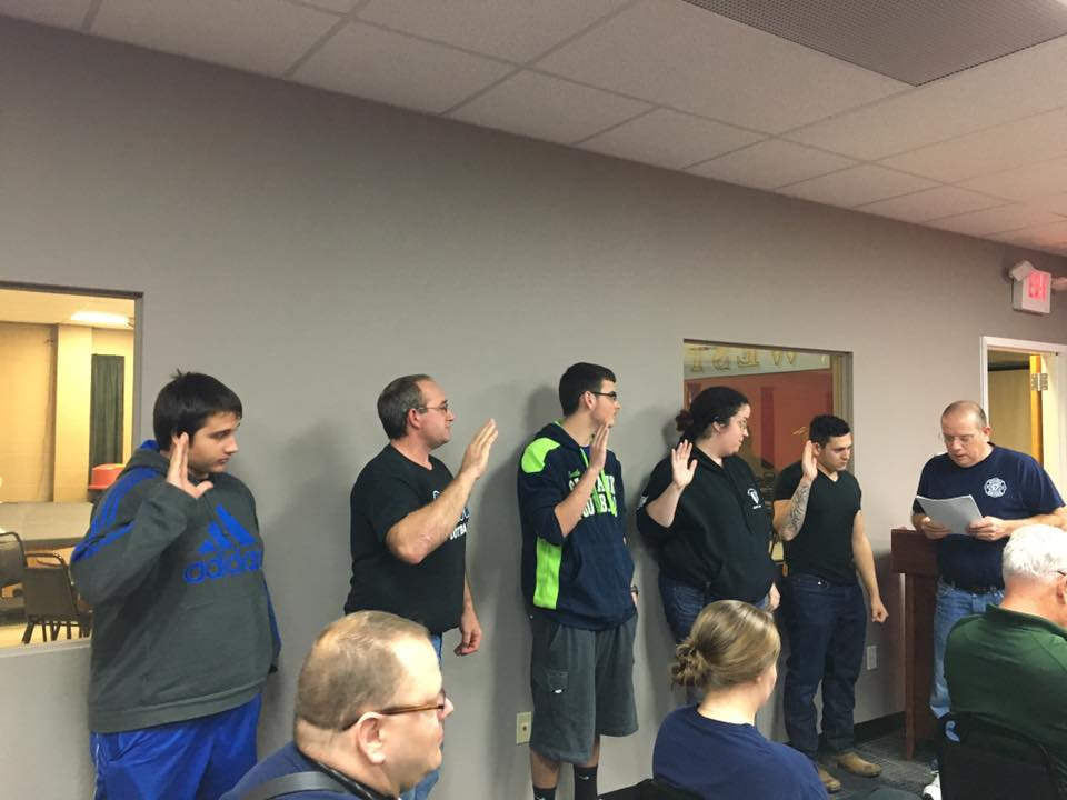 Recruitment night members sworn in