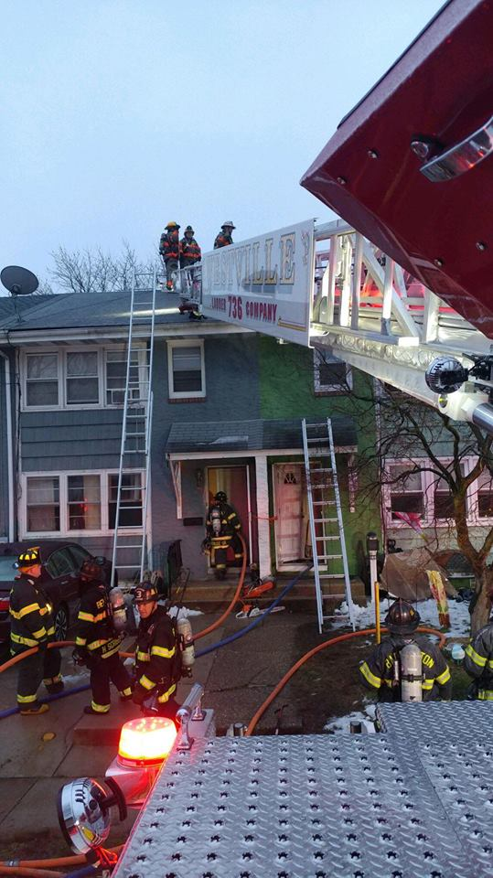 Ladder operates on All-Hands fire in Bellmawr
