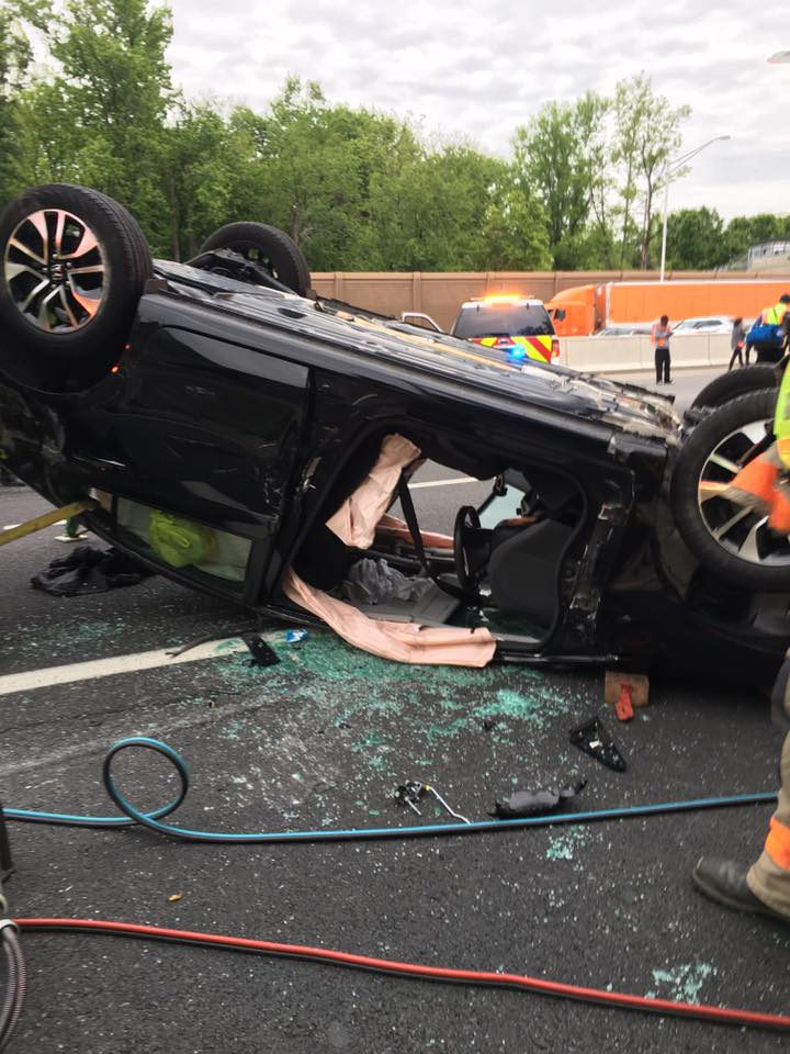 Rescue and BLS respond to Route 295 for a motor vehicle accident with entrapment
