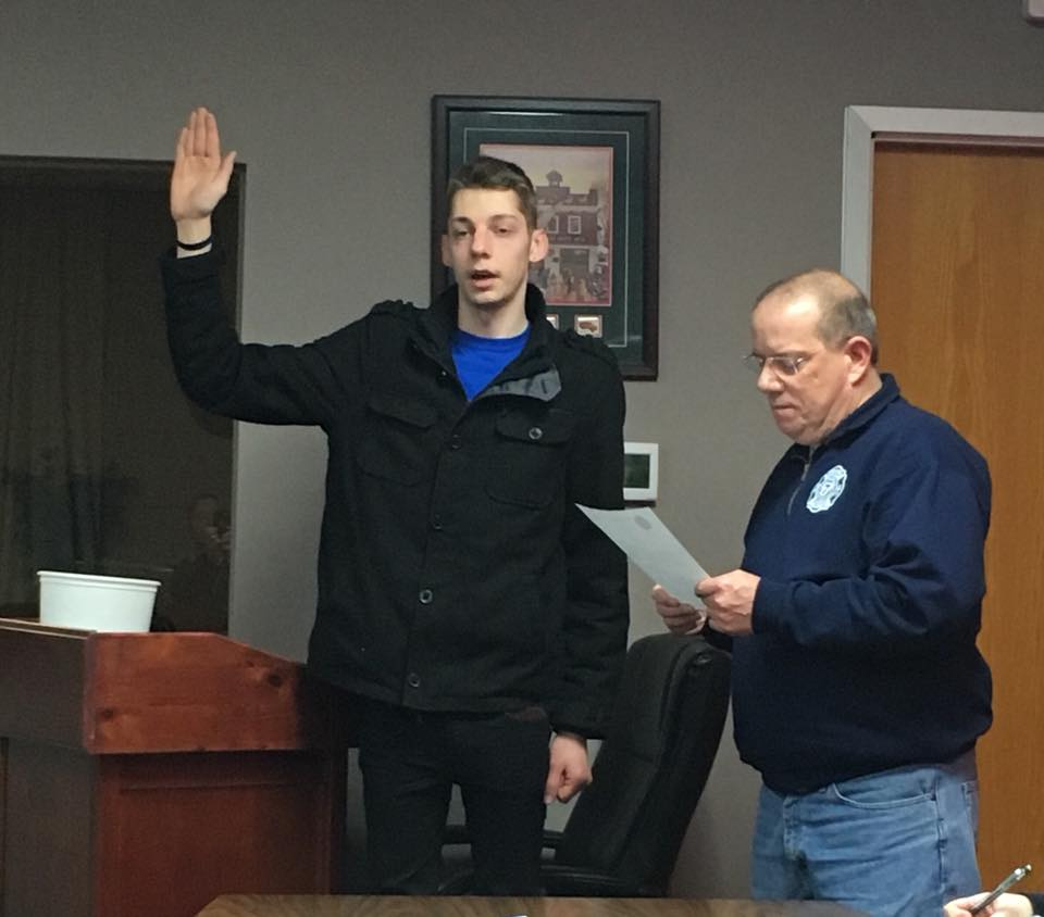 New Member Sworn In Tonight