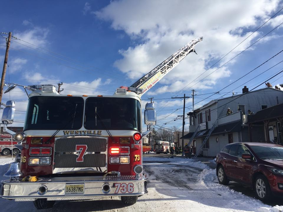 Ladder 736 Operating in Gloucester City