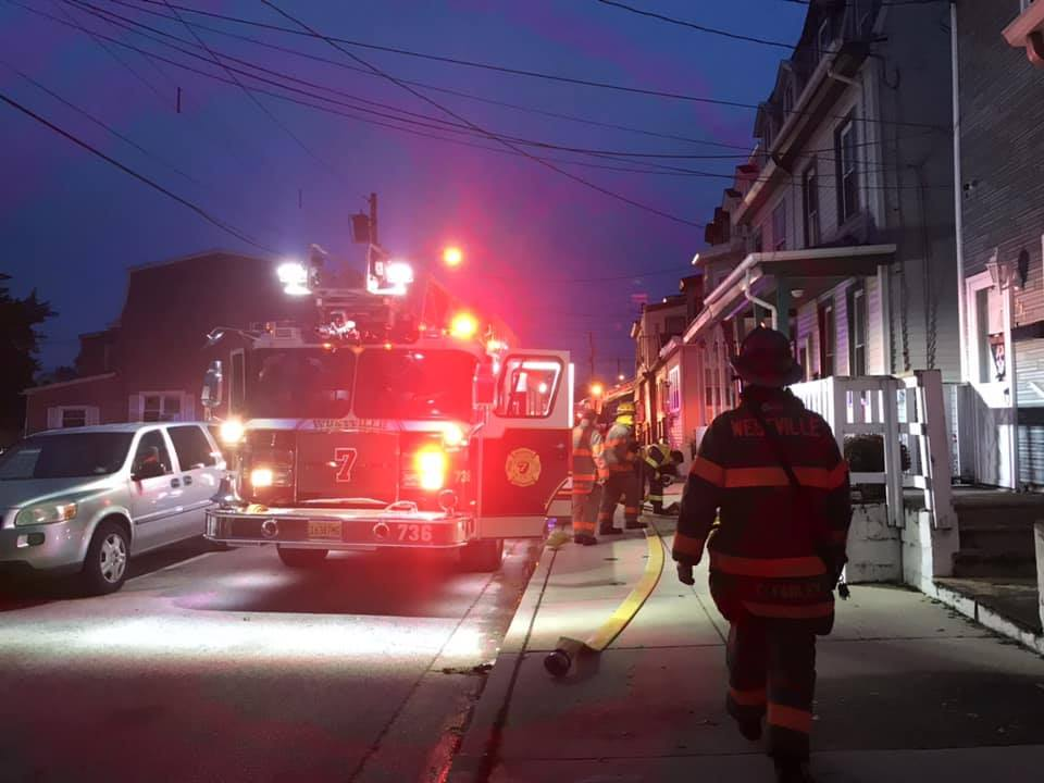 Ladder responds to all-hands dwelling fire in Gloucester City