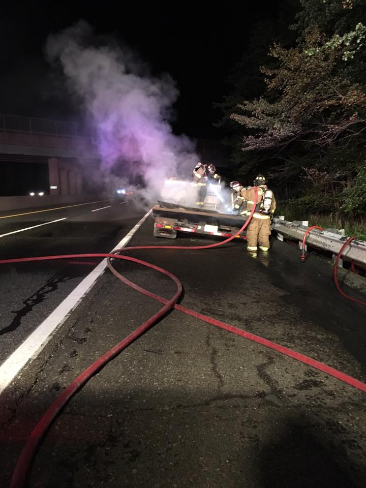 Rescue and Engine respond to commercial vehicle fire on NJTP