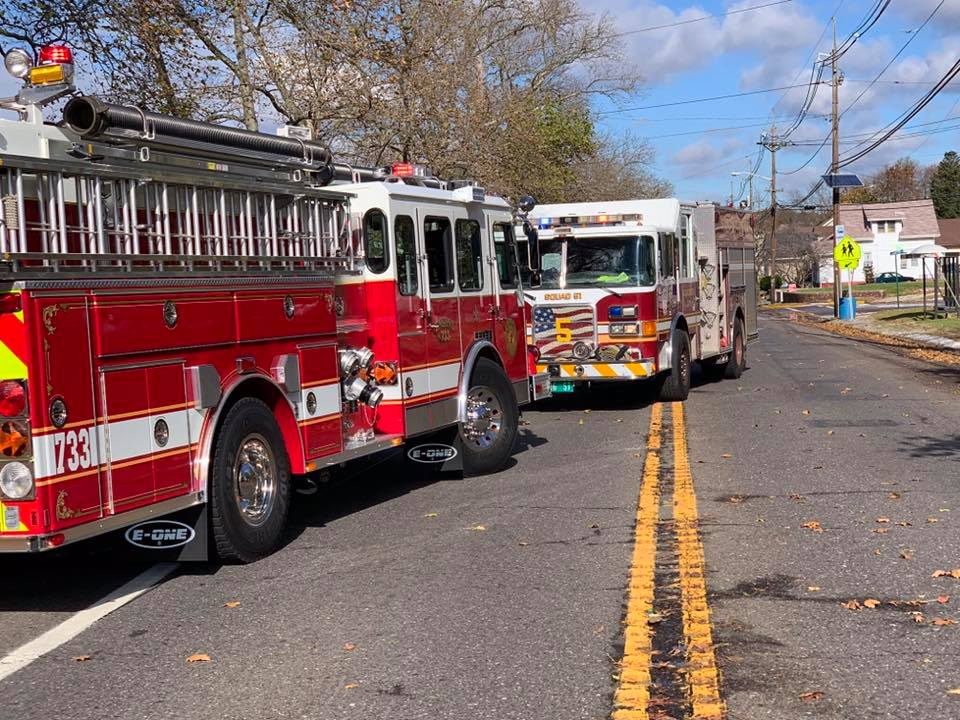 Engine Company handles gas leak